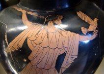 Zeus avec ses attributs: la foudre et l'aigle