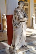 La Muse Polymnie, muse de la pantomime